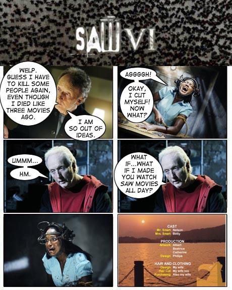 Monday Movie Re-Cut Comics: Saw VI | The Bureau Chiefs
